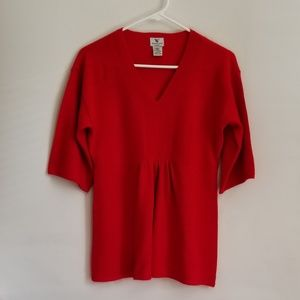Worthington Red 100% Cashmere Sweater Size Small